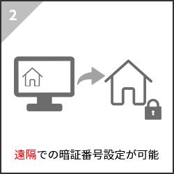 2.遠隔での暗証番号設定が可能
